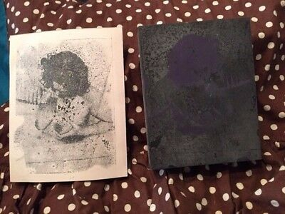 Collectibles Vintage Letterpress Printing Block Nude/Naked Female w/breasts