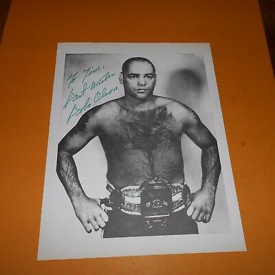 Carl Bobo Olson was the World Middleweight champion Hand Signed Photo