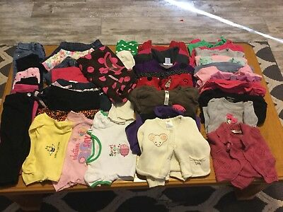 38 piece lot of baby Girl clothing size 12-18 months fall/winter