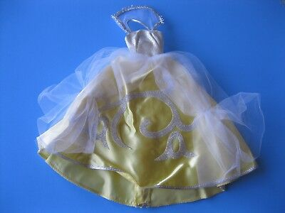 Vintage Barbie Doll YELLOW GOWN DRESS #0872 Tagged Mattel Clothes 60's