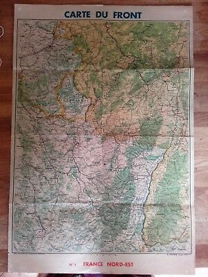 French Ww1? Map Covering The North East Sector Of The Front