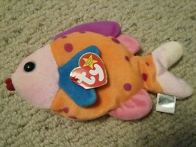 Ty Beanie Baby Babies Lips the Fish (Mint with Tags) 1999 Retired