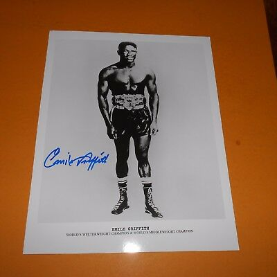 Emile Griffith World Champion Hand Signed Photo welterweight, junior middleweigh