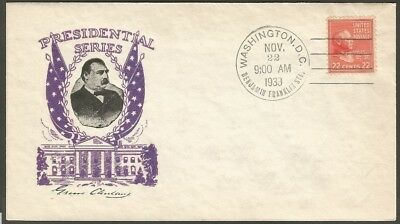 Us Cover Presidential Series 1938 Grover Cleveland 22C Stamp