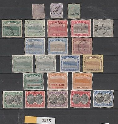 2875: Dominica; selection of 23 stamps. Victoria, Rouseau, George V