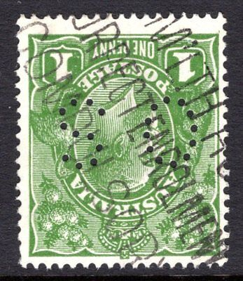 Australia- KGV 1d Green Small Multiple Watermark Inverted  (Ref: 268)