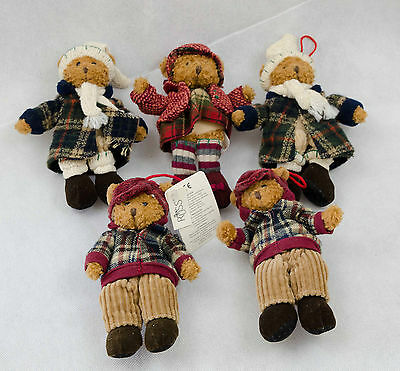 Russ Alpine Teddies Bundle X 5  Christmas  6""