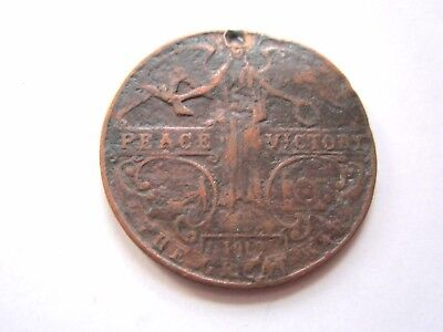 King George V, 1919, Peace & Victory, Large Copper Medallion.