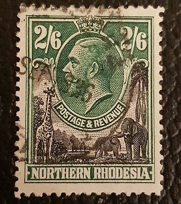 Northern Rhodesia 1925 2s6d Black & Green SG12 Fine Used