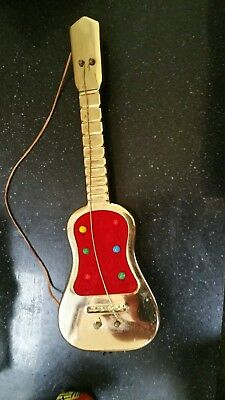 Collectable Vintage USA Tinplate Parlour Guitar Tape measure/Pin Cushion