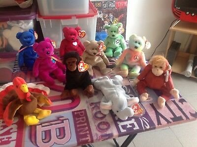 Ty Beanie Babies and Bears Rare Job Lot Toys