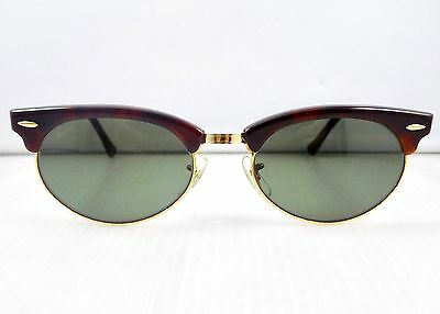 90's Ray Ban Clubmaster Oval B&L USA W1264 Sunglasses & Case