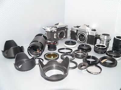 Job lot lens cameras adapters hoods converters photography other bits lot 3