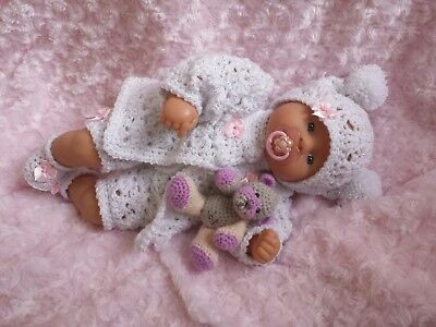 My First Baby Annabell Chou Chou Or Similar Size Doll- Hand Crocheted Clothes.