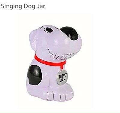 Talking Singing Cookie Treat Jar Biscuit Who Let The Dogs Out Snoopy Style