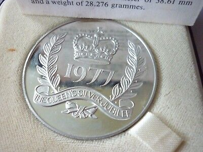 The Queens Silver Jubilee silver proof Crown/medal