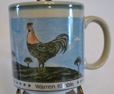Warren Kimble American Folk Art Mug - Rooster Design Otagari Japan
