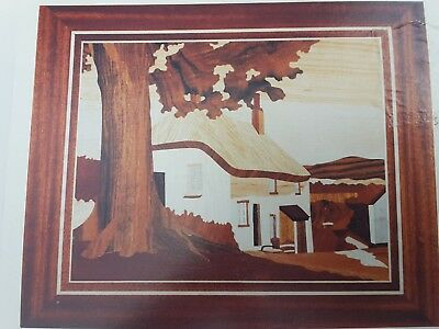 marquetry craft kit Devon Cottage large 15x13 ins suitable begjnner