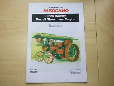 Meccano Modelplans 100 - 20 page booklet to build Burrell Showmans Engine
