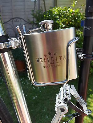 Velvetta Hip Flask and Bike Cycle Cage/Holder (Eroica) On Sale 🇬🇧