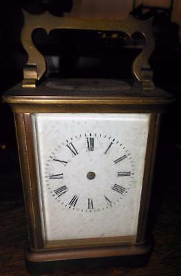 scruffy brass cased carriage clock for restoration2