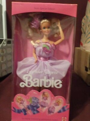 Nib 1989 Sears Special Edition Lavender Surprise Barbie