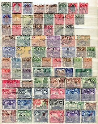 Malta 1903 – 1948 ***** 75 Used Stamps