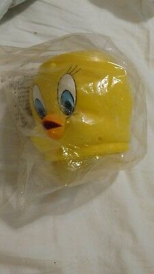 1992 Tweety Bird TWEETY Large Plastic Mug Cup Warner Brothers Looney Tunes