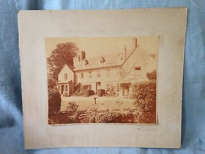 Gloucs - Chipping Campden HOUSE ? Vintage Mounted Photo Print 19 X 24cms