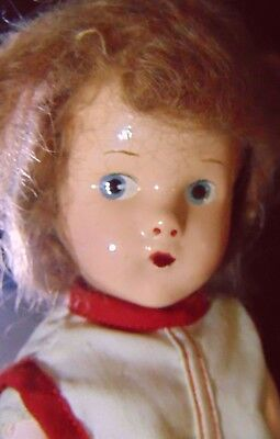 """1939 Vtg Composition Effanbee Doll Suzette Googly Eye Cabinet 11"""" Home Collect Z"""