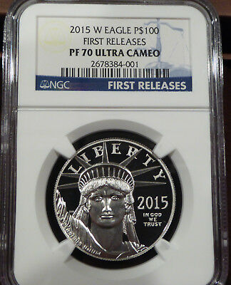 2015-W 1 oz Proof Platinum American Eagle PF-70 UCAM NGC - FIRST Releases