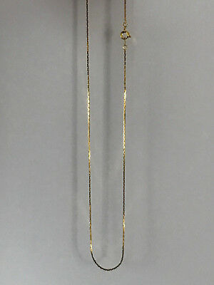 18K Gold Plated Classic Italian Thin Box Chain Necklace 18""