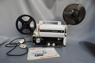A Good Working Eumig Mark S810D Super 8 / Standard Sound Projector With Film