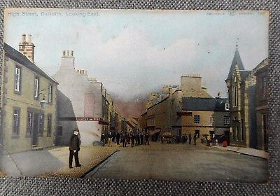 High Street,Dalkeith. Looking East. Edwardian Postcard 1904.