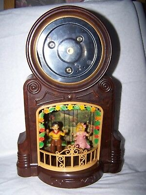 Vintage Mastercrafters Playmates Swinging Boy and Girl Bakelite Clock Case Parts