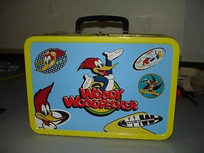 "Woody Woodpecker Metal 13"" x 9"" Jumbo Tin Box - 1999 by Frankford Candy VG+"