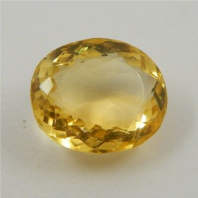 19.9 cts Natural Yellow Citrine Gemstone Beautiful Loose Cut Faceted R#260-18
