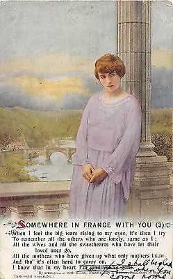 POSTCARD   SONG  CARDS     Somewhere in  France with  you  (3)
