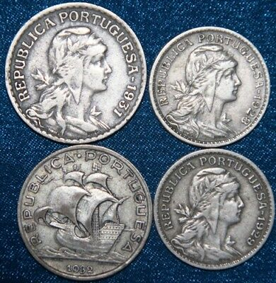 PORTUGAL - 4 x Coin Mix Better condition + Silver