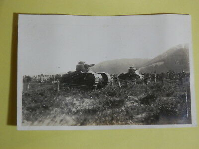 WW2 Japanese Army Picture of the Renault FT tank.Very Good