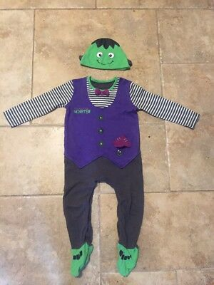 Baby Frankenstein Halloween Outfit Age 12-18 Months - Worn Once
