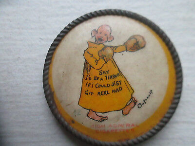 Antique,, Yellow Kid # 12 High Admiral Cigarettes, Clip On,, Terror Boxer