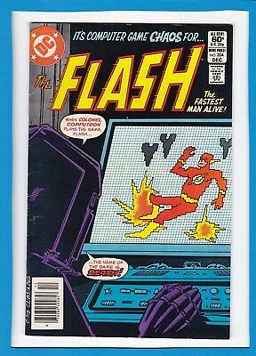 """The Flash #304_December 1981_Very Fine+_""""computer Game Chaos""""_Bronze Age Dc!"""