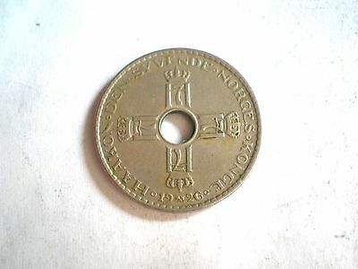 Early- 1 Krone Coin From Norway Dated 1926-Nice