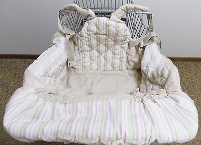 Eddie Bauer Baby Shopping Cart High Chair Cover Converts Bag Beige Pink Brown