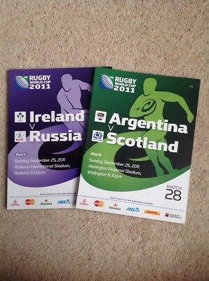 2 x Rugby World Cup 2011 Programmes inc. Scotland Ireland  MINT New Zealand