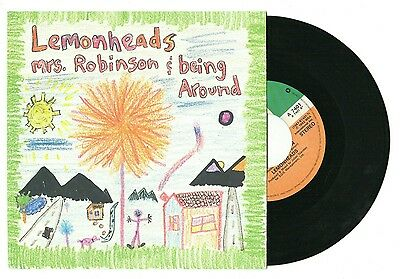 "THE LEMONHEADS - Mrs Robinson /Being Around, 7""vinyl jukebox single, grunge rock"