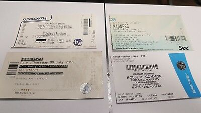 Madness / Suggs tickets used X4