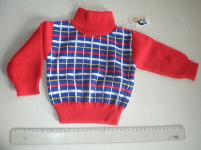 Pull Col Roule Enfant / Bebe 1 An - Crylor Vintage - Neuf