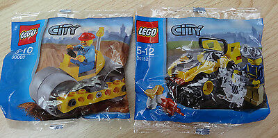 Lego 30152 & 30003 - Lego City -  Brand new poly bags
